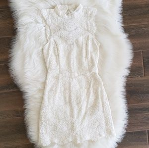 B2G1 Love, Fire Ivory Lace Keyhole Back Dress